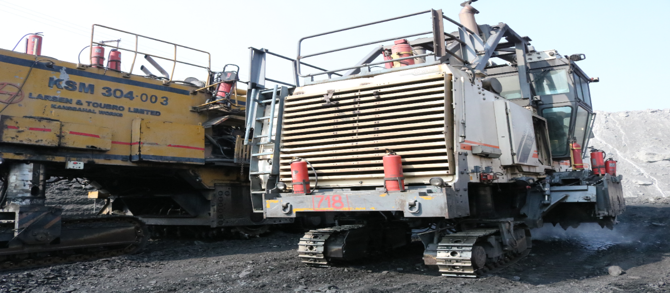 Fig. Surface Miner with water jets, Gevra OCP, SECL