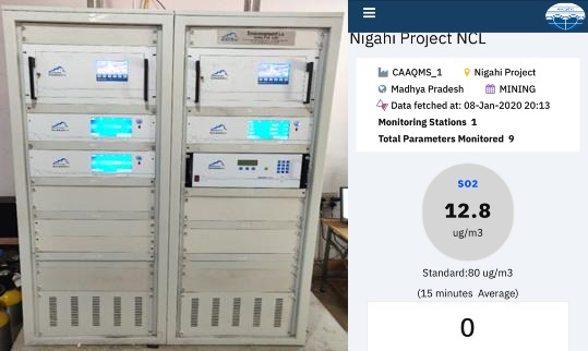 Continuous Ambient Air Quality Monitoring Systems (CAAQMS) at Nigahi OC